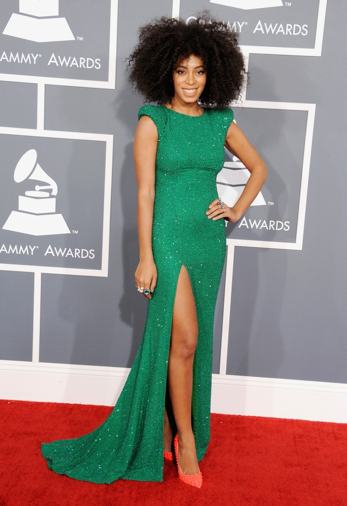 LOS ANGELES, CA - FEBRUARY 10: Singer Solange Knowles attends the 55th Annual GRAMMY Awards at STAPLES Center on February 10, 2013 in Los Angeles, California.  (Photo by Steve Granitz/WireImage)